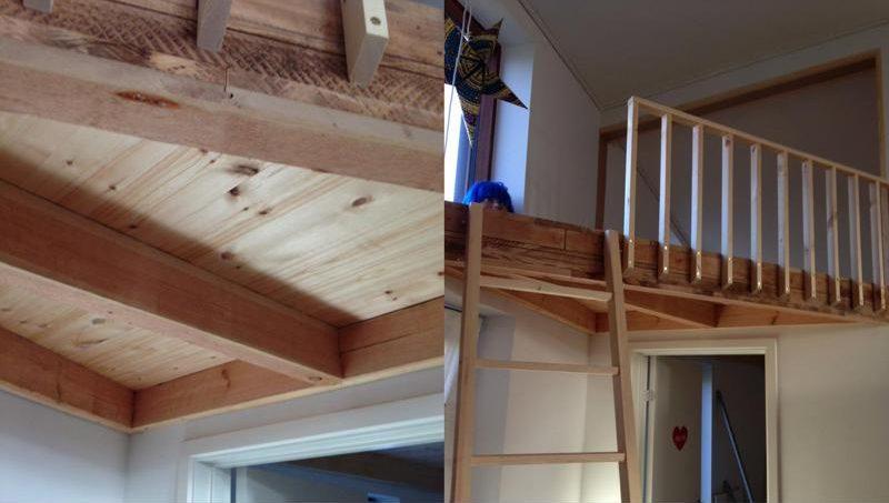 Tømrerarbejde med hems